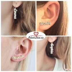 Customized Earrings With Your Name (Text) On It