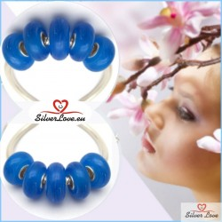 Colorful Murano Charm - Blue Fascination