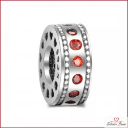 Longing Spacer Charm - Red