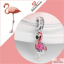 Pink Flamingo Dangle Charm
