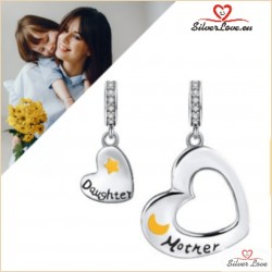 Mother and Daughter Dangle Charm-Set