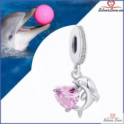 Playful Dolphin Dangle Charm