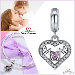 Mother's Heart Dangle Charm